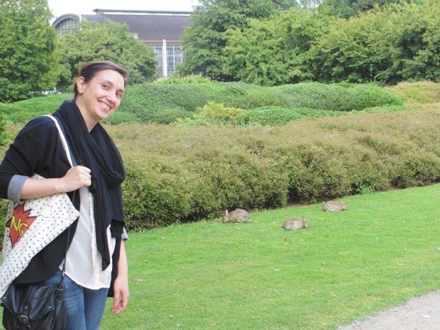 Conejitos en el parque