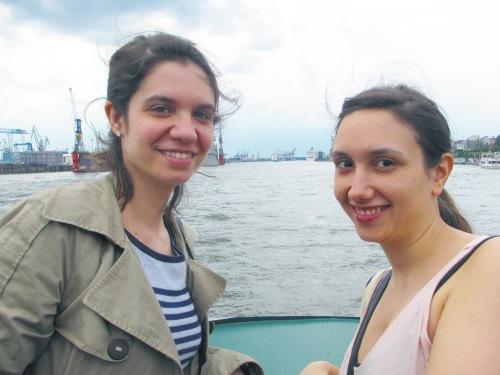 En barco a la playa
